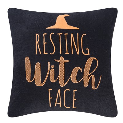 C&F Home Resting Witch Face Printed Pillow