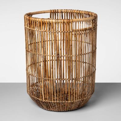 Tall Natural Rattan Basket Natural Khaki 20.75 x16  - Opalhouse™