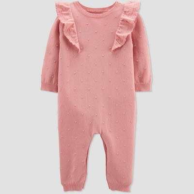 Baby Girls' Swiss Dot Jumpsuit - Just One You® made by carter's Pink Newborn