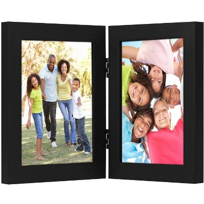 Americanflat Hinged Picture Frame with Two Displays MDF and Shatter Resistant Glass