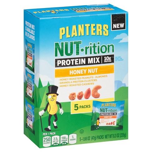 Planters NUTrition Honey Nut Protein Mix - 8.3oz - 5ct : Target on planters almonds nutrition, planters nuts nutrition, planters honey nut snack, planters cocktail peanuts nutrition, planters sunflower seeds nutrition, planters dry roasted pecans, planters roasted cashews, planters peanuts nutrition label, planters peanuts are healthy, planters dry roasted peanuts, planters unsalted peanuts nutrition, planters salted peanuts nutrition, planters peanuts slogan, planters honey roasted nuts, planters trail mix nutrition, planters cashews nutrition information, planters lightly salted peanuts,