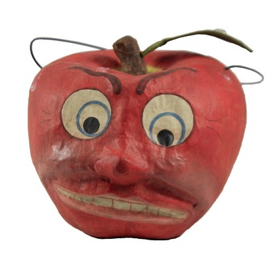 """Halloween 5.5"""" Aghast Apple Candy Bucket Fruit Angry Shocked  -  Decorative Figurines"""