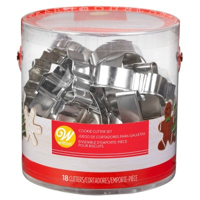 Wilton 18pc Holiday Metal Cookie Cutter Set