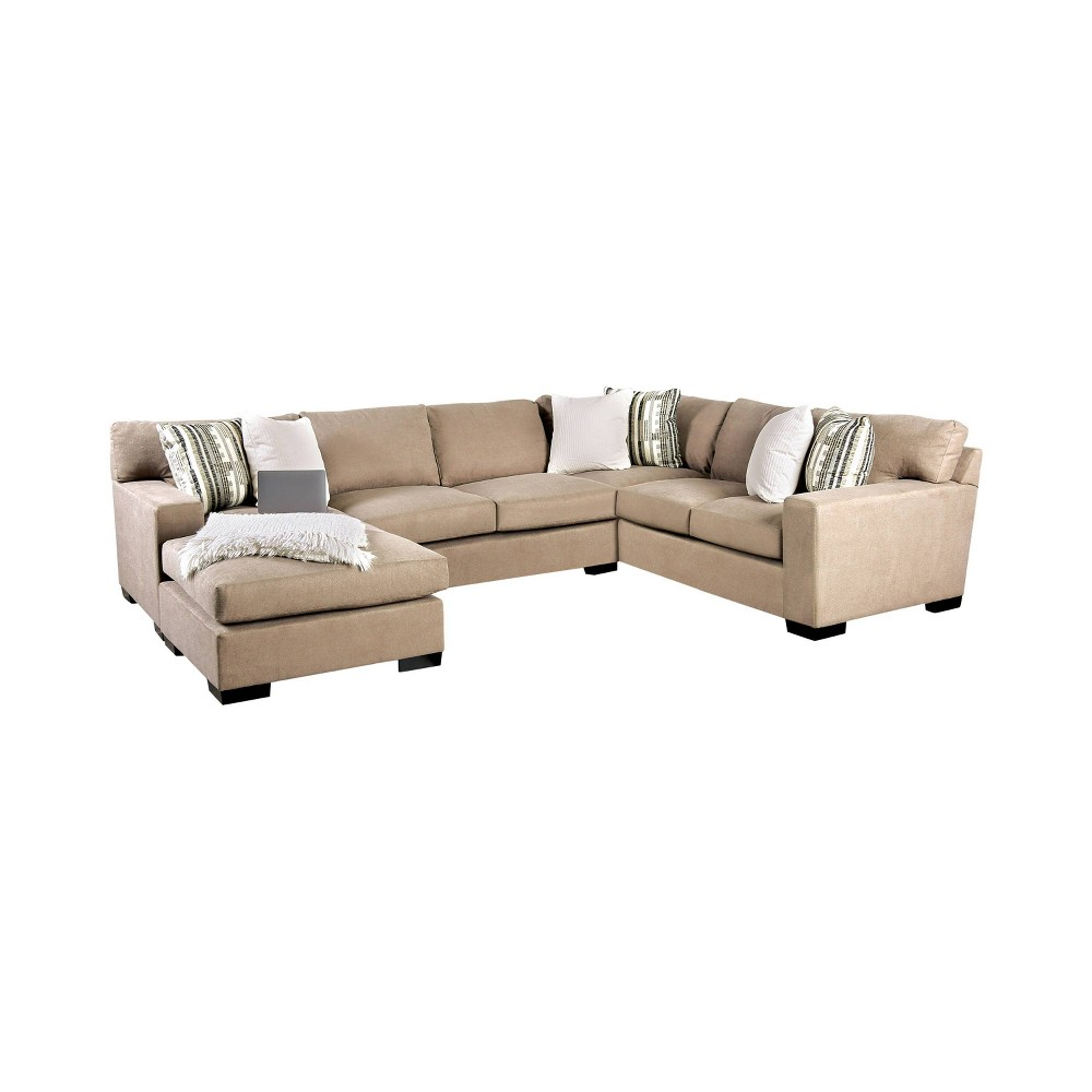 Image of Anderton Track Arm Sectional Brown - miBasics