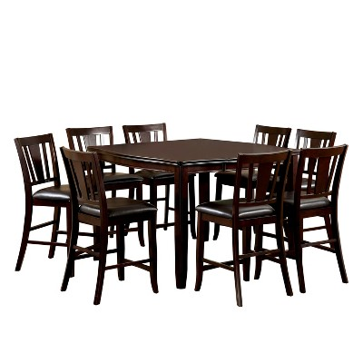 9pc GlaivewoodSturdy Extendable Dining Table Set Espresso - HOMES: Inside + Out