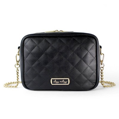 Itzy Ritzy Double Take Crossbody Diaper Bag - Black
