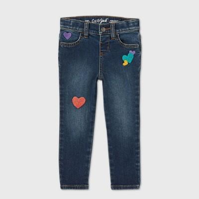 Toddler Girls' Heart Patch Skinny Jeans - Cat & Jack™ Blue