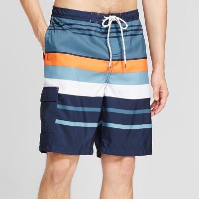Men's Board Shorts Stripe 9  - Goodfellow & Co™ Orange L