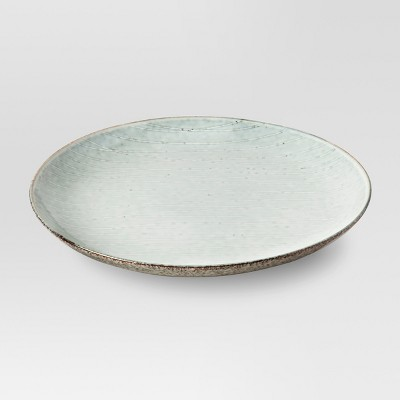 "11"" Solene Stoneware Dinner Plate Gray/White - Project 62™"