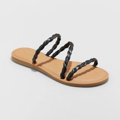 Women's Sunny Braided Strappy Sandals - Universal Thread™
