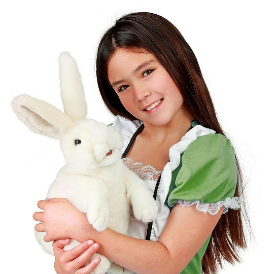 Folkmanis Standing White Rabbit Hand Puppet image number null