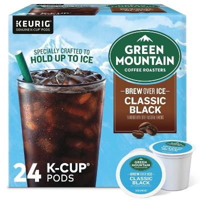 Green Mountain Coffee Roasters Brew Over Ice Classic Black Medium Roast Pods - 24ct