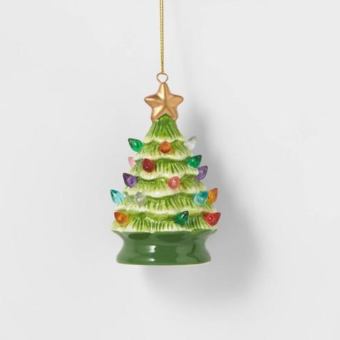 Ceramic Retro Christmas Tree Ornament Green - Wondershop™ - image 1 of 2