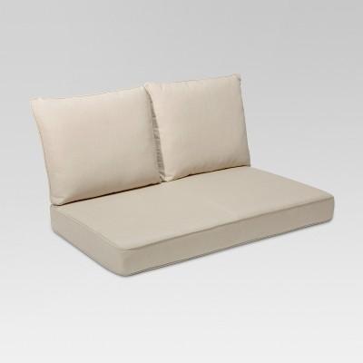 Rolston 3pc Outdoor Replacement Loveseat Cushion Set Beige - Grand Basket