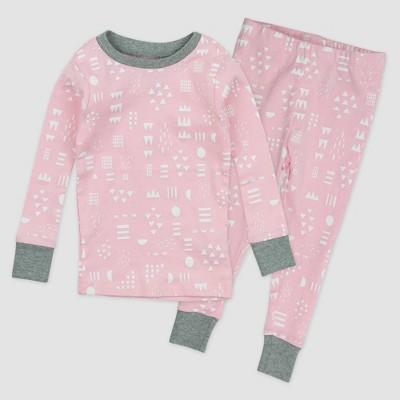 Honest Baby Girls' 2pc Play Organic Cotton Pajama Set - Pink 24M