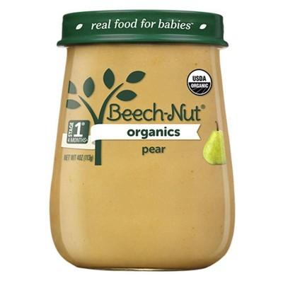 Beech-Nut Organics Pears Baby Food Jar - 4oz