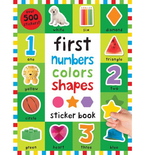 First 100 Numbers, Colors, Shapes Sticker Book (Paperback) (Nicola Friggens & Robyn Newton & Kate Ward) - image 1 of 1
