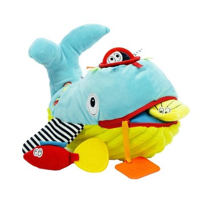 Dolce Play & Learn Whale Stuffed Animal And Plush Toy