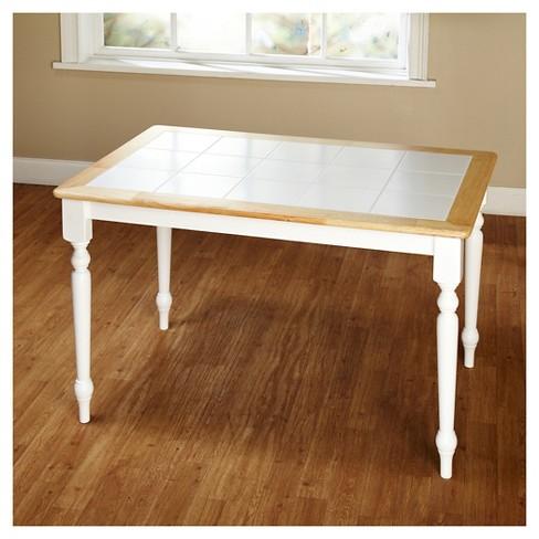 Tara Tile Top Dining Table Whitenatural Tms Target