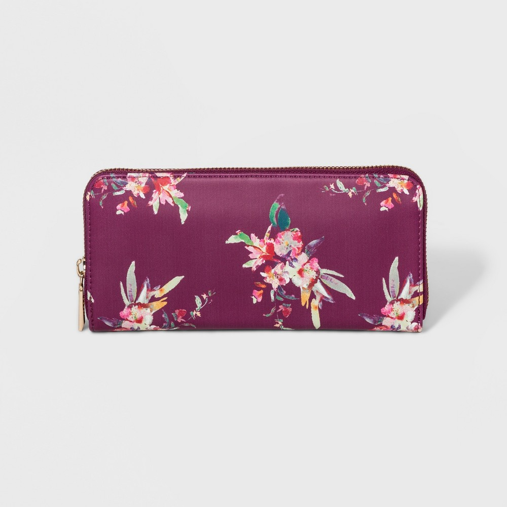 Women's Classic Zip Wallet - A New Day, Size: Small, Multi-Colored