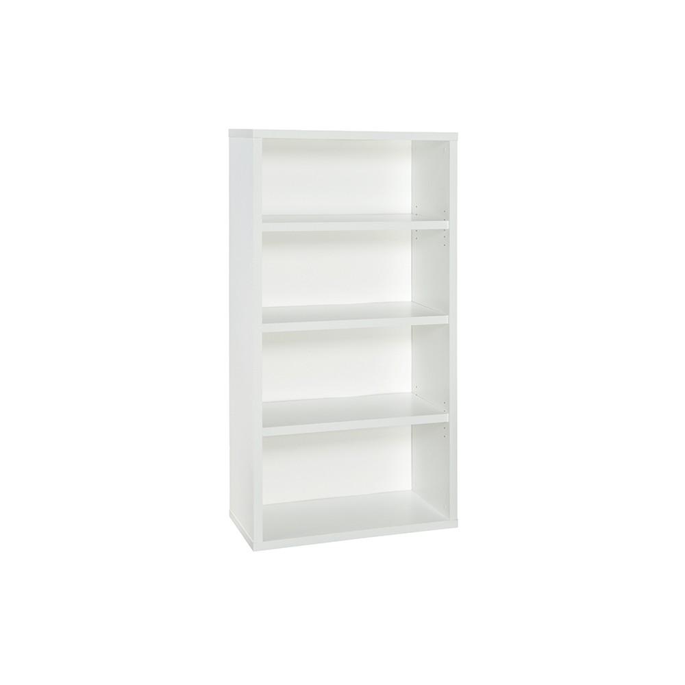 """Image of """"58"""""""" 4 Shelf Bookcase White - ClosetMaid"""""""