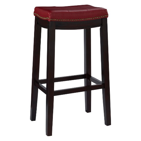 Claridge Leather Saddle 32 Barstool Red Target