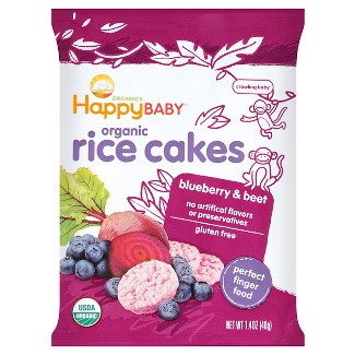 Happy Munchies Organic Blueberry & Beets Rice Cakes 1.4oz