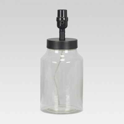 Causal Fillable Small Lamp Base Clear Includes Energy Efficient Light Bulb - Threshold™
