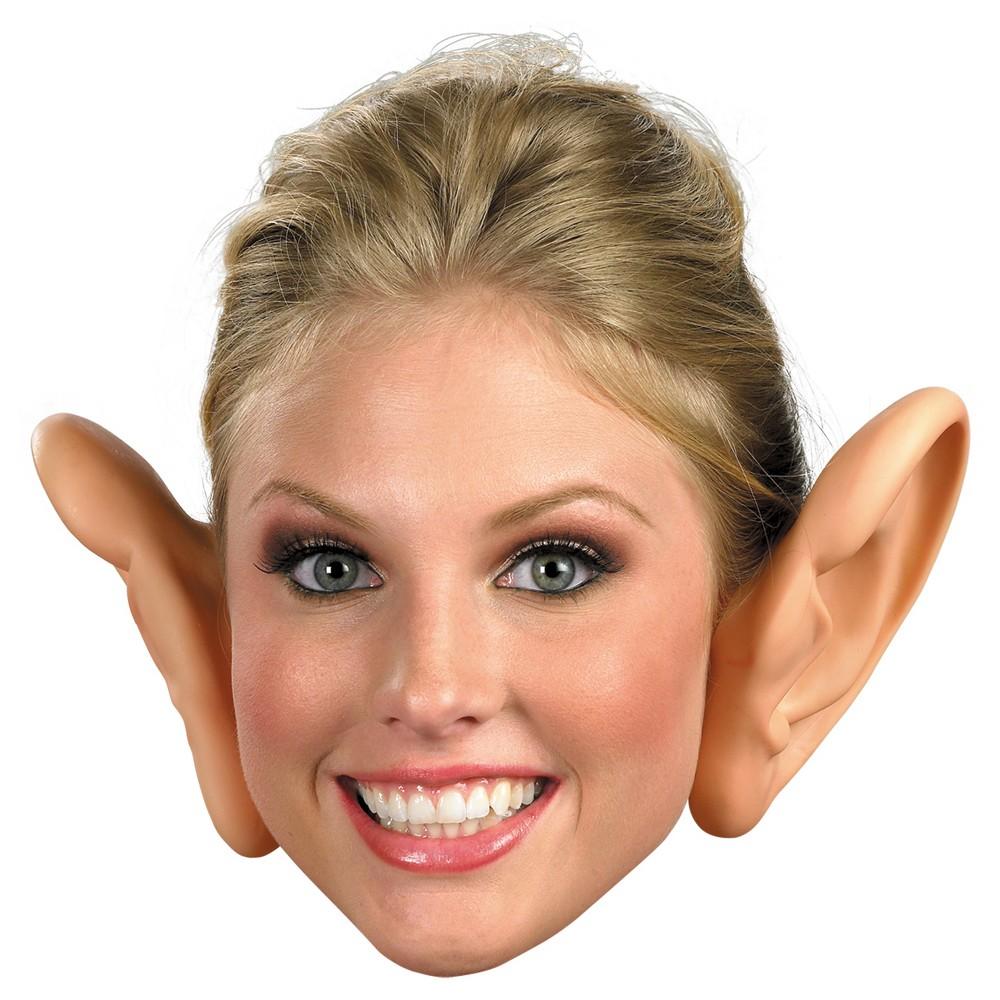 Plastic Large Ears Costume Nude - One Size, Adult Unisex