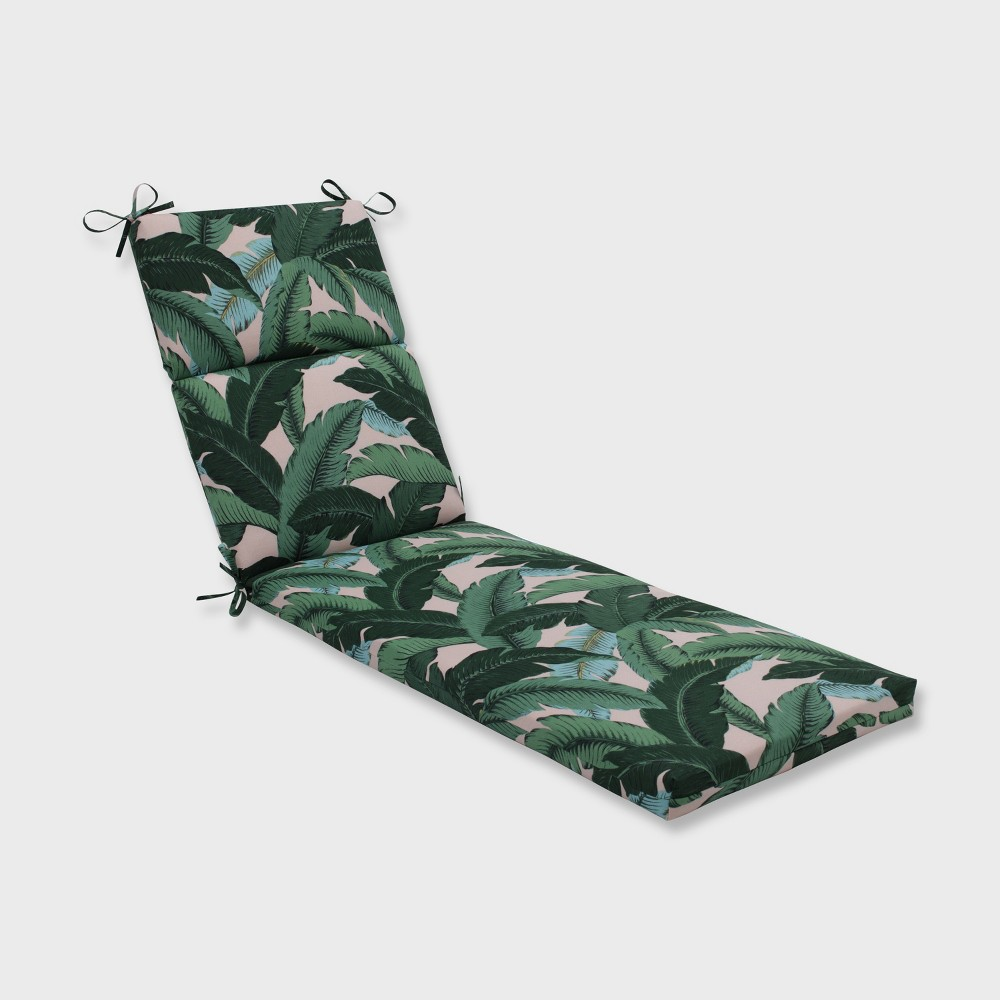 Swaying Palms Outdoor Chaise Lounge Cushion Capri Blue - Pillow Perfect