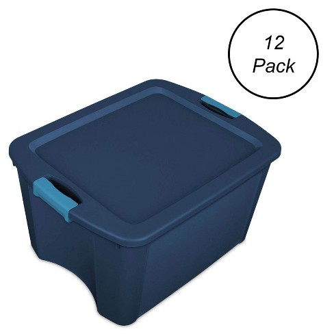 Sterilite 1446740618 Gallon Latch and Carry Storage Tote Box Containers(12 Pack) - image 1 of 4