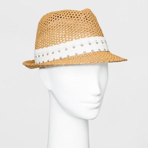 18ee7005a490e Women s Fedora Hat - Universal Thread™ Brown   Target