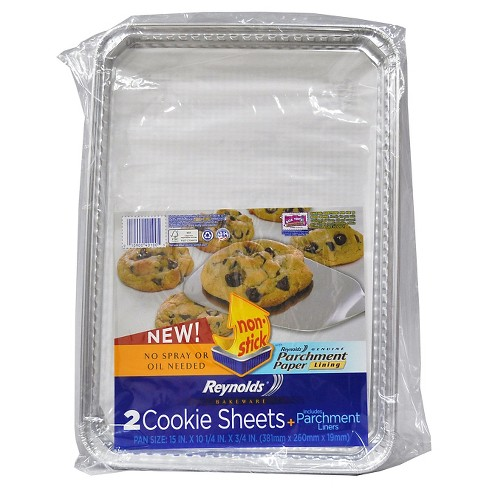 Reynolds Disposable Bakeware Cookie Sheet with Parchment - 2ct - image 1 of 5