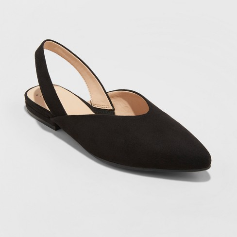 Women's Pam V Throat Sling Back Mules - A New Day™ - image 1 of 3