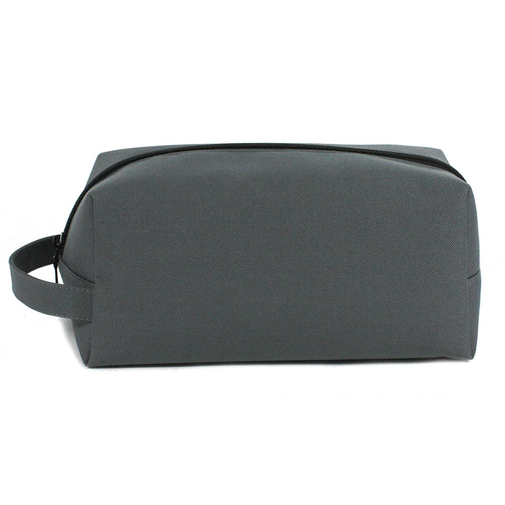Basics Large Organizer Toiletry/Travel Bag, Gray Keep cosmetics and grooming products safe and secure with the Basics Large Organizer Toiletry/Travel Bag. This simplistic yet effective storage case offers a generous interior for protecting and organizing shaving accoutrements, beauty products, tools and essentials for travel or daily use. Color: Gray.