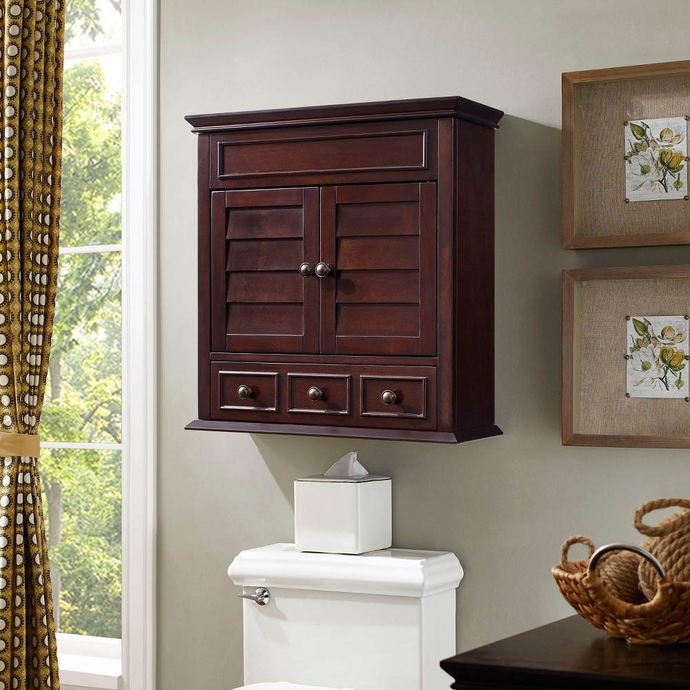 Image of Lydia Wall Cabinet in Espresso