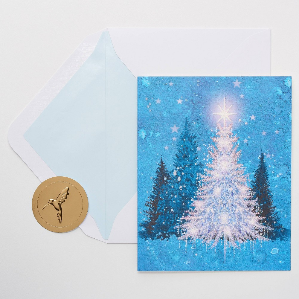 Image of 10ct Papyrus Magical Tree Christmas Greeting Cards