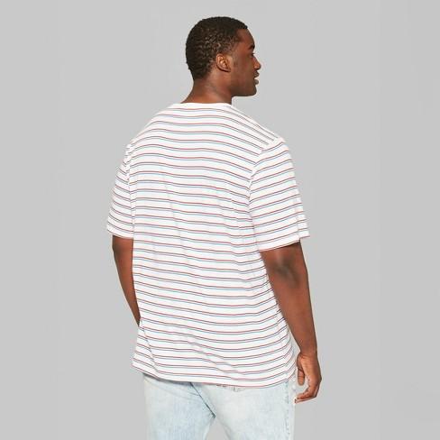 877681dd4b Men's Big & Tall Striped Short Sleeve Retro T-Shirt - Original Use™ Red.  Shop all Original Use