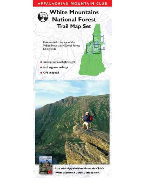 Appalachian Mountain Club White Mountain National Forest Trail Map Set -  (Paperback) - image 1 of 1