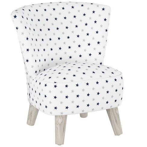 Awesome Kids Printed Armless Curved Back Modern Chair Navy Gray Stars With Gray Legs Pillowfort Creativecarmelina Interior Chair Design Creativecarmelinacom