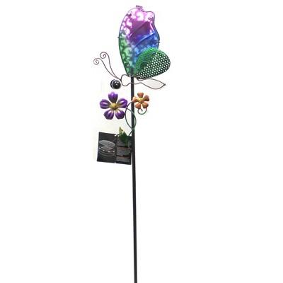 """Home & Garden 36.0"""" Secret Solar Garden Stake Bird Butterfly Dragonfly Evergreen Enterprises Inc  -  Decorative Garden Stakes"""