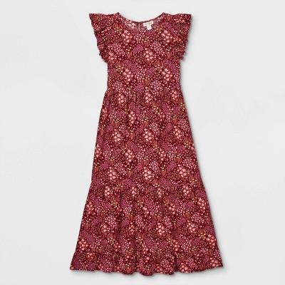 Girls' Flutter Sleeve Woven Maxi Dress - Cat & Jack™