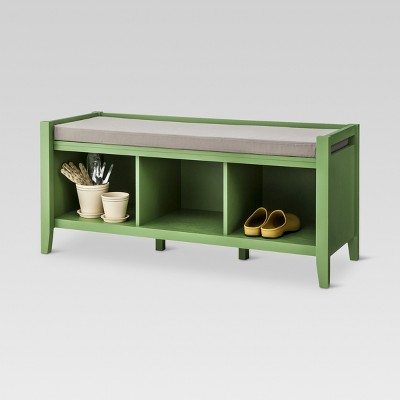 Open Storage Bench Wood   Threshold™ : Target