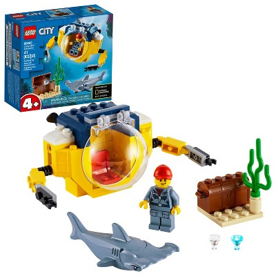 LEGO City Ocean Mini-Submarine Playset, Cool Toys for Kids 60263