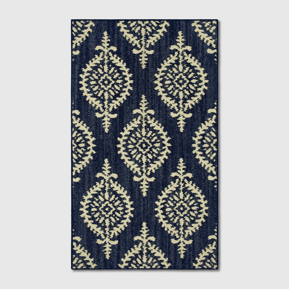 Paisley Tufted Accent Rugs Indigo