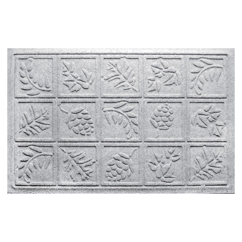 White Botanical Doormat - (2'X3') - Bungalow Flooring
