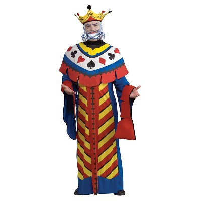Adult Playing Card King Halloween Costume One Size