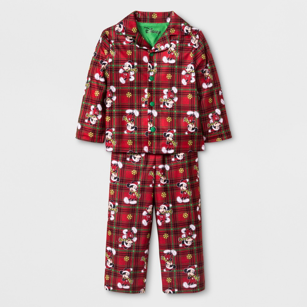 Toddler Boys' Mickey Mouse & Friends Mickey Mouse 2pc Coat Pajama Set - Red 2T