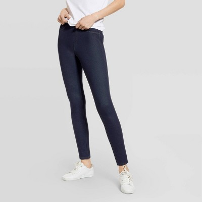Hue Studio Women's Mid-Rise Classic Denim Jean Leggings
