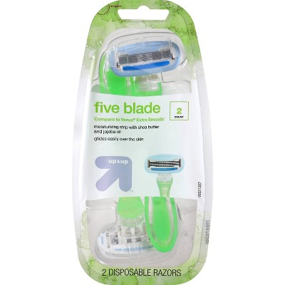 Women's 5 Blade Disposable Razor - 2ct - up & up™